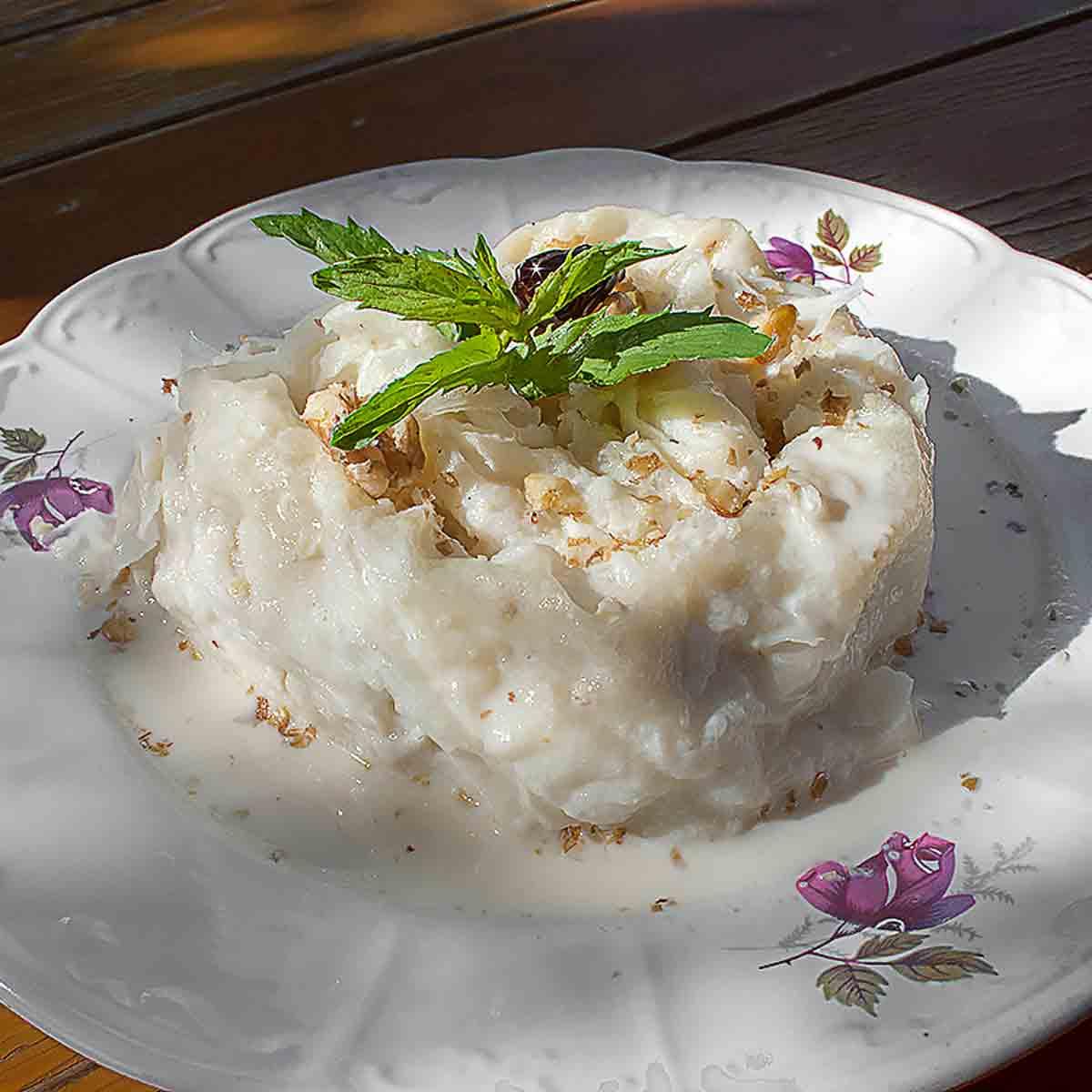 Güllaç - Süße Milch-Maisblätter