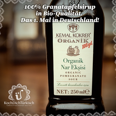 Kemal Kükrer - Bio Granatapfelsirup 100% - Organik nar ekşisi