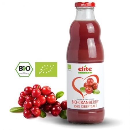 ELITE NATUREL - Cranberry Bio-Direktsaft - kızılcık suyu