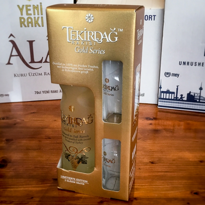 Tekirdağ Rakı Gold series Geschenkset