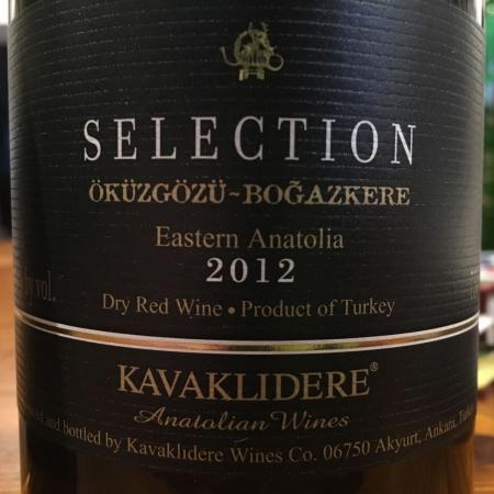 KAVAKLIDERE Selection Öküzgözü-Boğazkere 2012