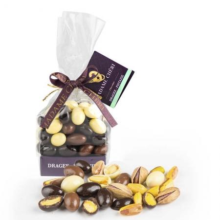 MADAME CHĚRI Schokoladen-Dragees mit Pistazien