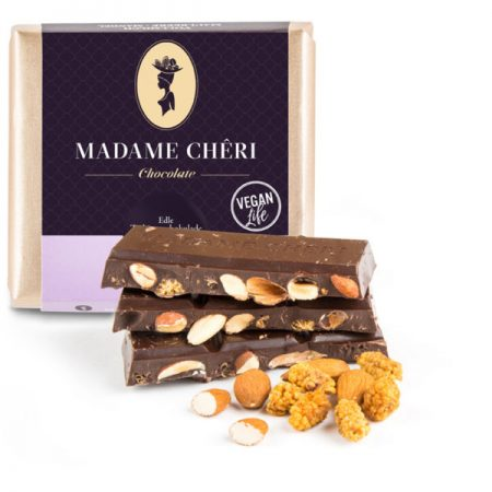 Madame Chêri - Zartbitterschokolade Maulbeere-Mandel