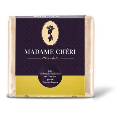 MADAME CHĚRI - Vollmilch Guave mit ganzen Pistazien