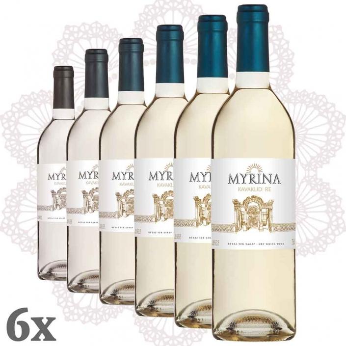 Kavaklıdere Myrina Weiß 6er-Pack