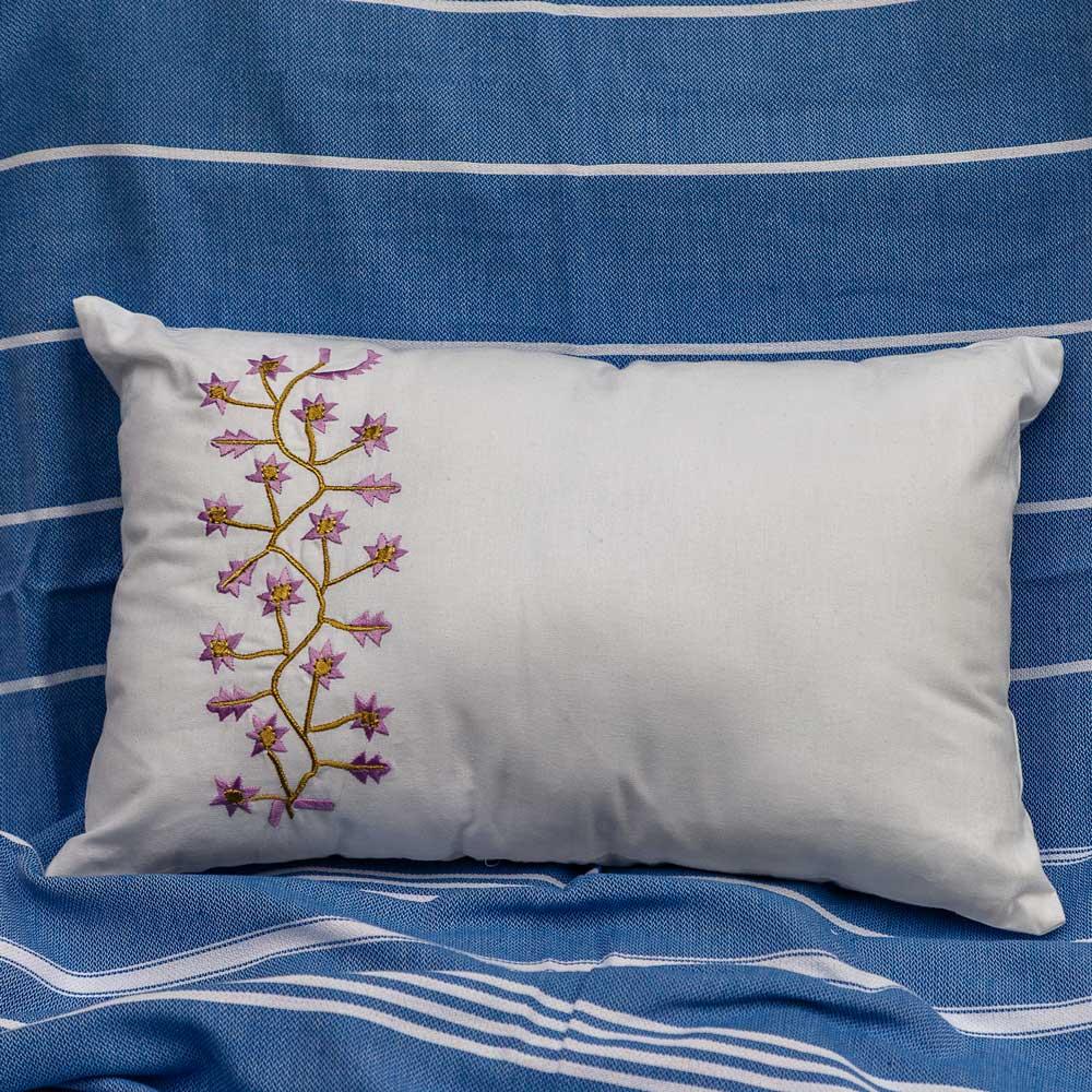 Ottomania, kleine bestickte Sofakissen, Kissen, lavender, modern, schlicht, sofakissen, Bett, Tisch, Wohnzimmer, Zierkissen, traditionell, türkisch, Lavendel, gelb, weiß, beige, sofa,