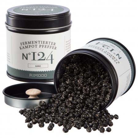 Rimoco 124 fermentierter kampot Pfeffer schwarz ganz