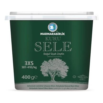 Marmarabirlik - Schwarze Oliven ~ Kuru Sele Siyah Zeytin 400g