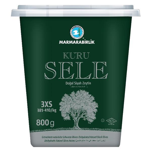 Marmarabirlik - Schwarze Oliven ~ Siyah Kuru Sele Zeytin 800g