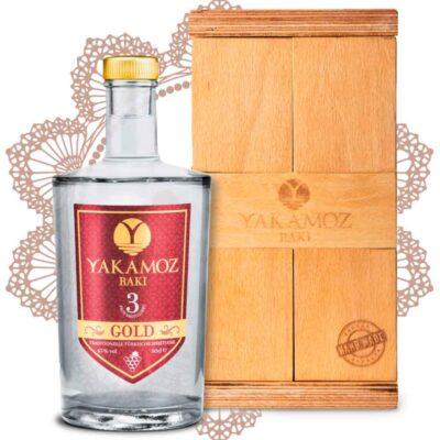 Yakamoz Rakı ~ türkischer Raki ~ 3-fach destilliert ~ mit individueller Holzkiste