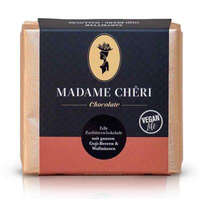 madame cheri schokolade zartbitter goji walnuss front