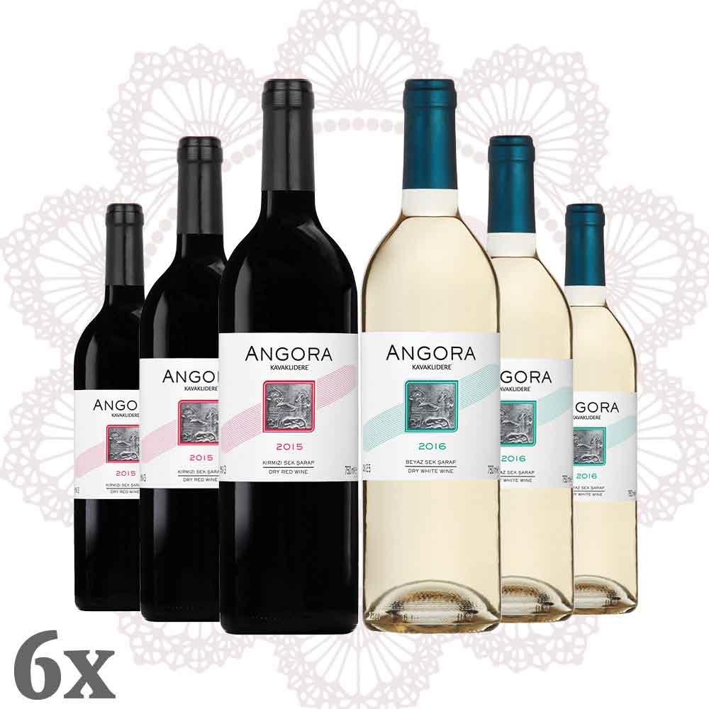 Kavaklıdere Angora Rot-Weiß im 6er-Pack