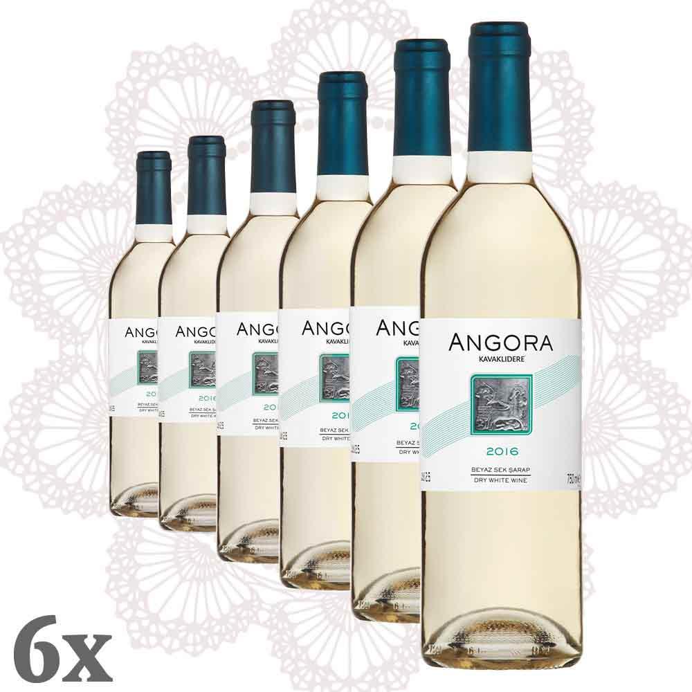 KAVAKLIDERE ~ Angora Weiss 6er-Pack ~ Sparpaket Wein