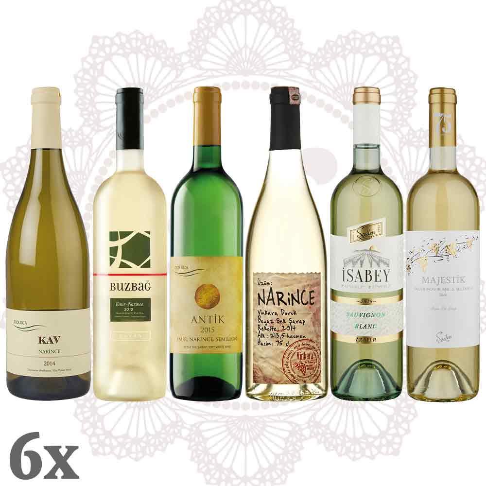 Türkischer Weißwein 6er-Pack - Sparpaket