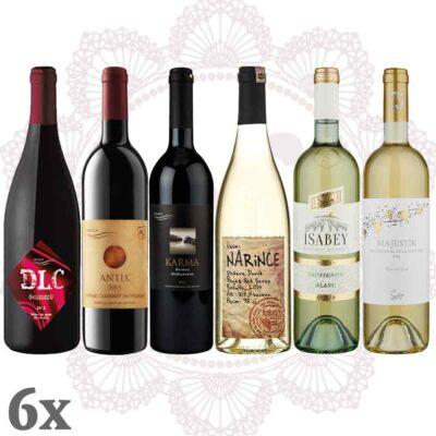 Türkischer Wein Rot Weiß 6er-Pack