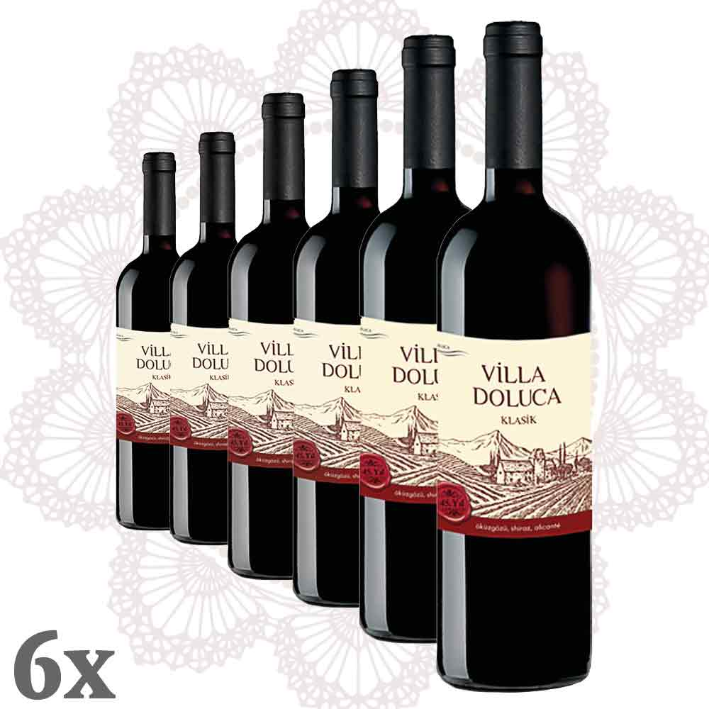 Villa Doluca Legend Rotwein 6er-Pack