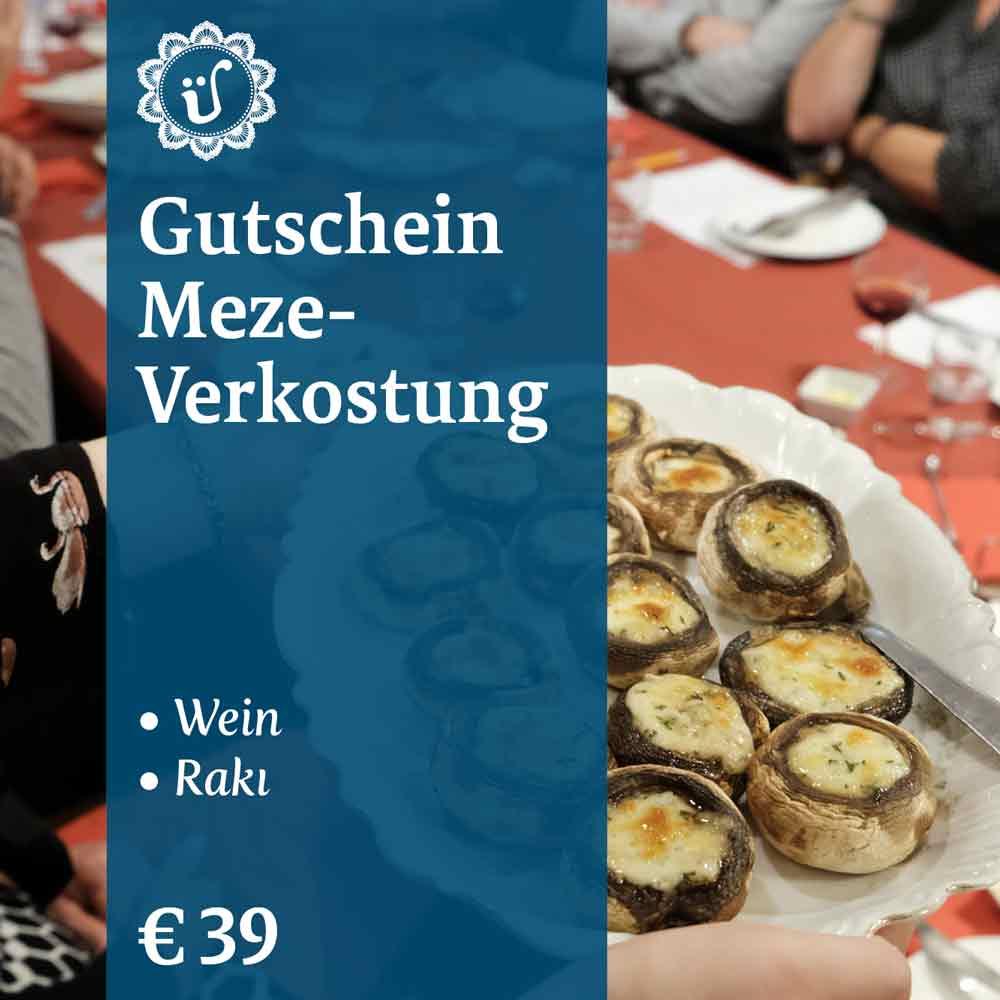 Gutschein Meze Wein und Rakı Verkostung