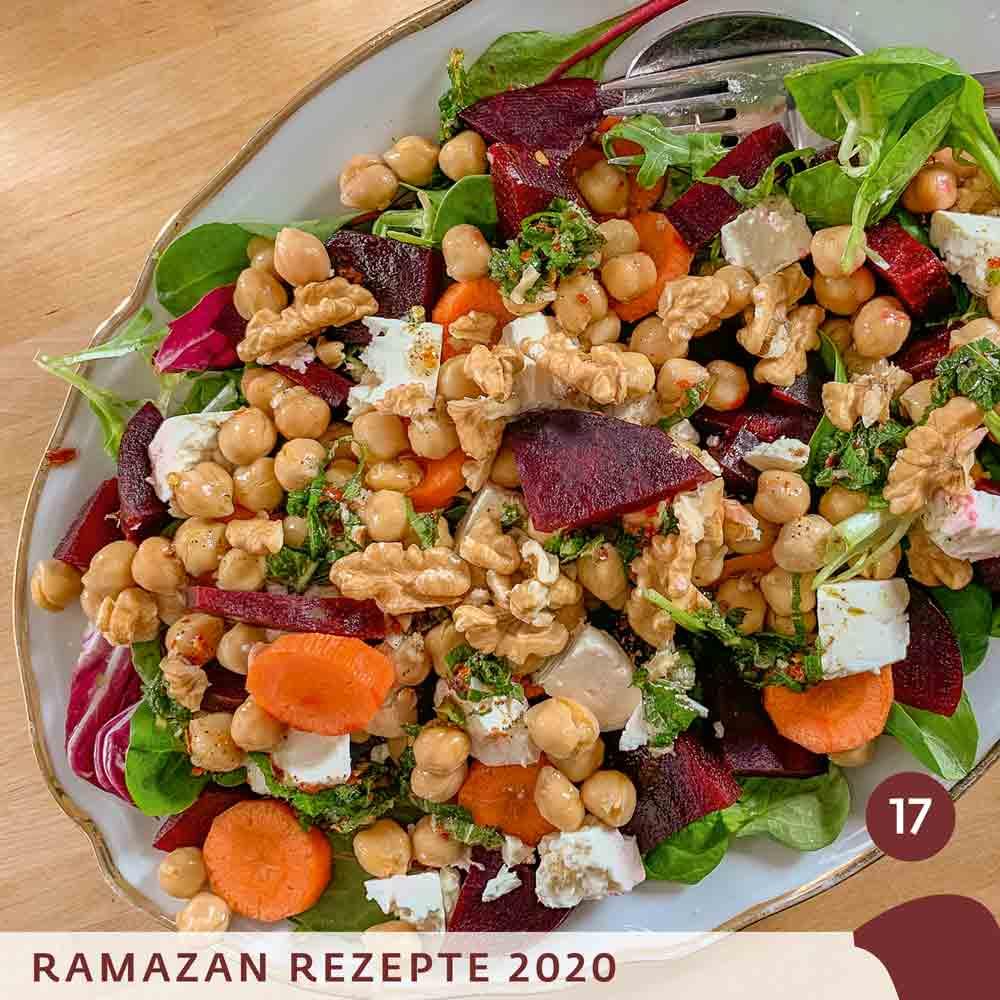 Ramadan 2020 quadrat17 rote beete salat