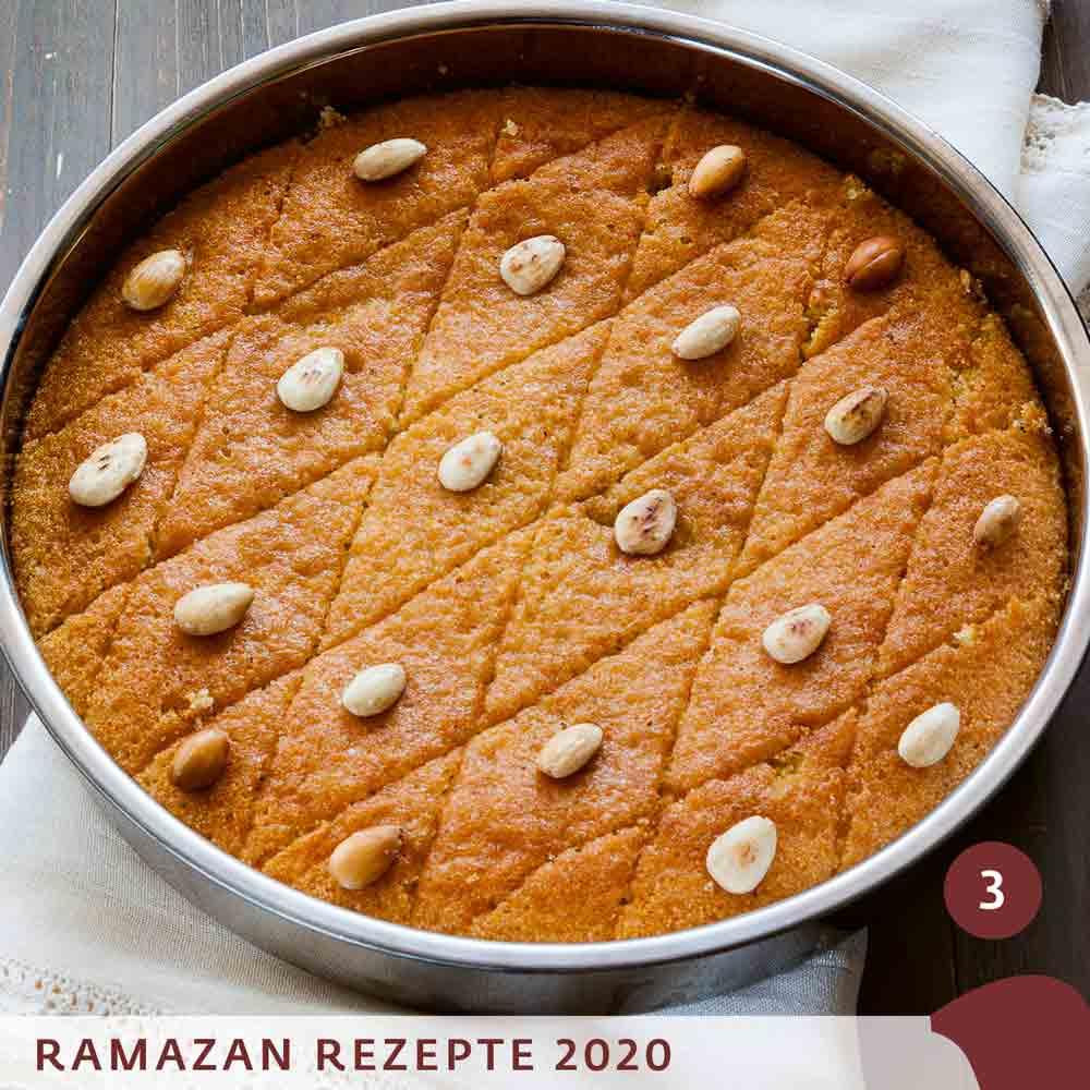 Revani - saftiger türkischer Grießkuchen