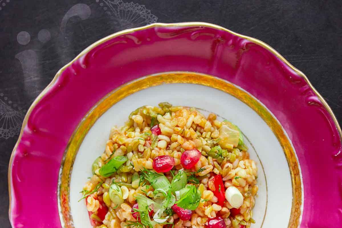 *Firik salatası* ~ Freekeh Salat