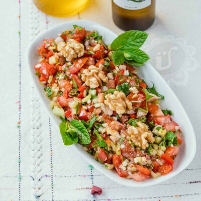 Gavurdağı salatası ~ Löffelsalat mit Granatapfelsirup