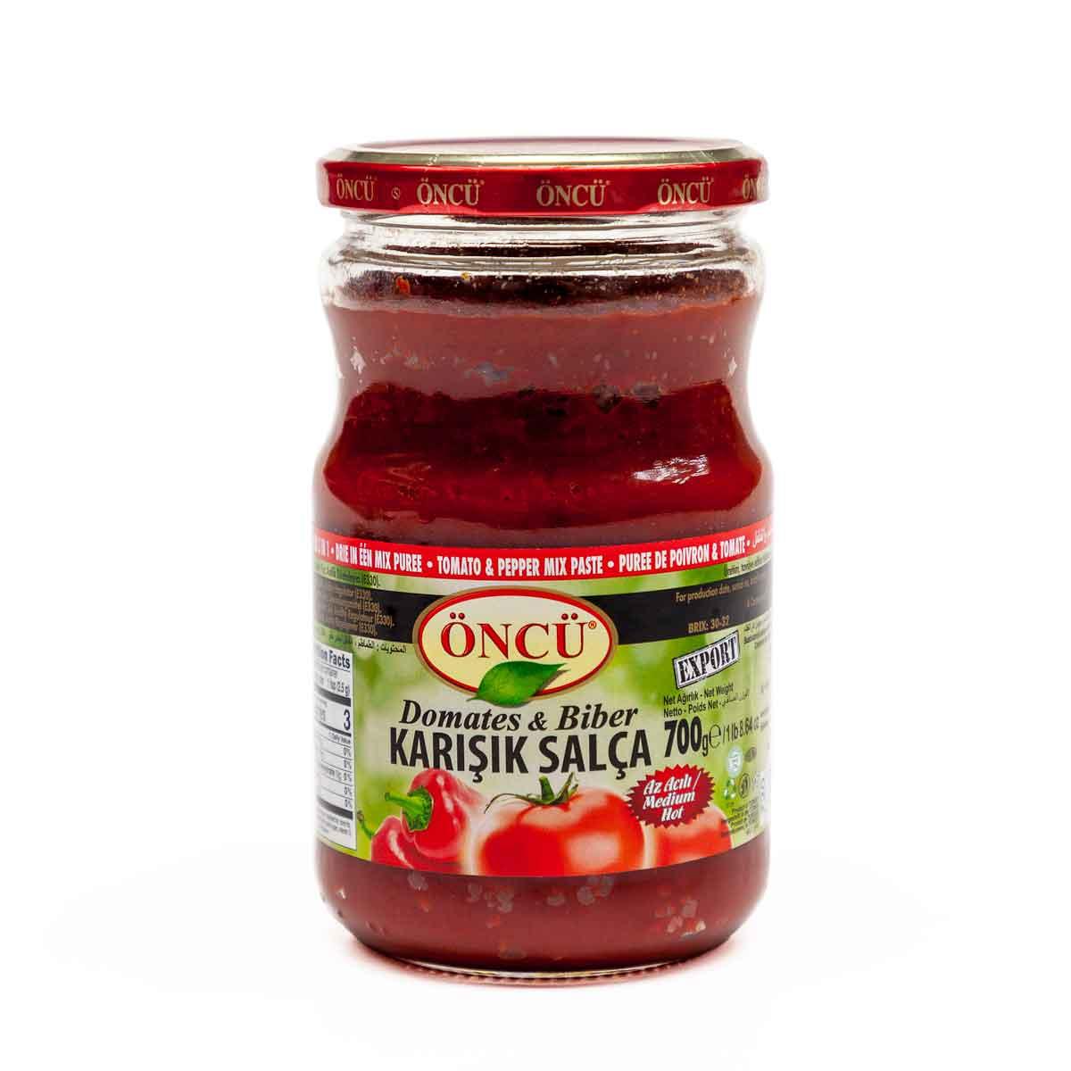 ÖNCÜ ~ Mischung aus Tomaten- Paprikapaste ~ Karışık Domates & Biber Salçası ~ 700g