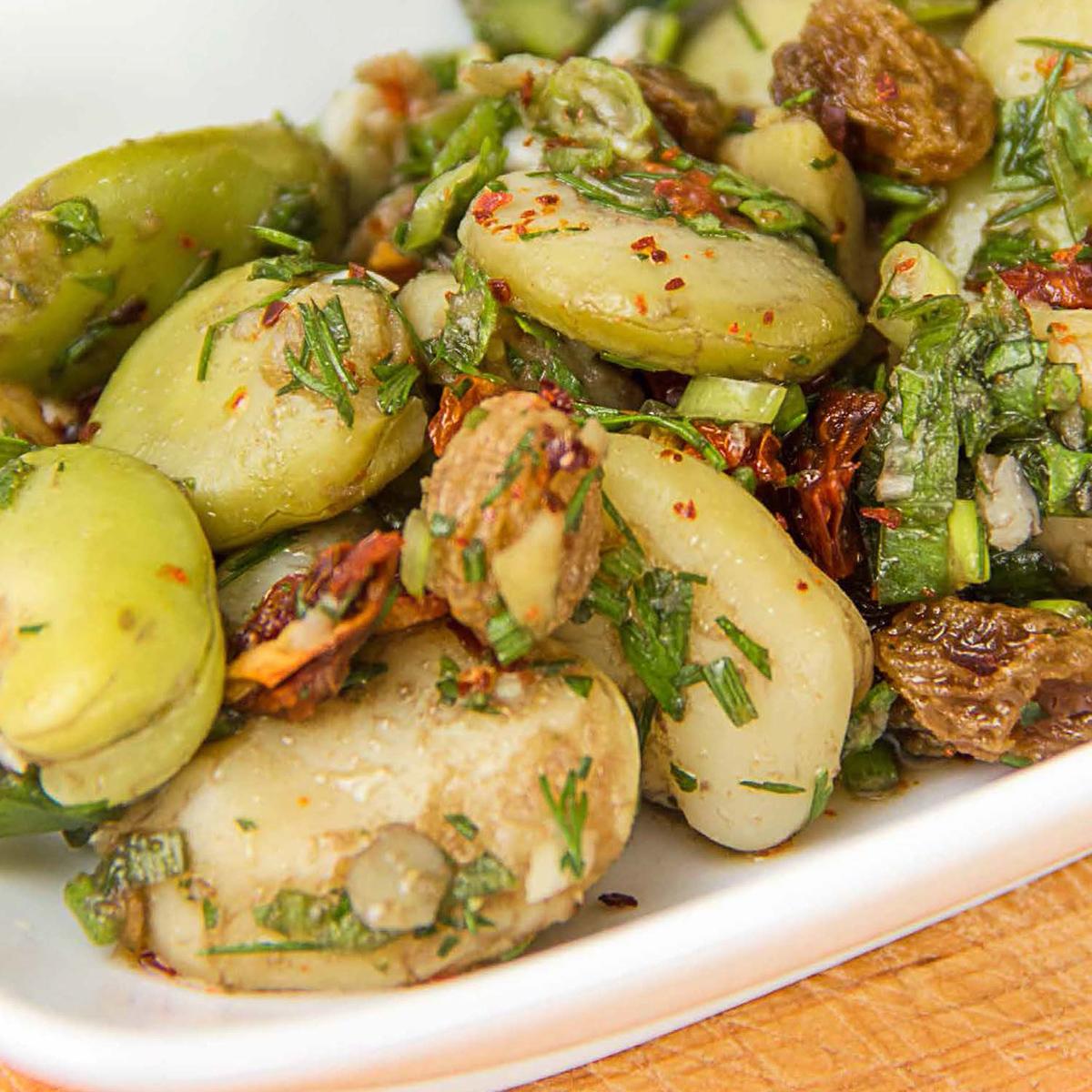 *Bakla salatası* ~ Ackerbohnen Salat ~ Rezept & TV