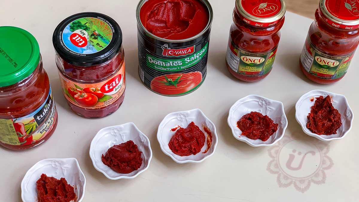 Salça ~ Tomaten- und oder Paprikamark Warenkunde