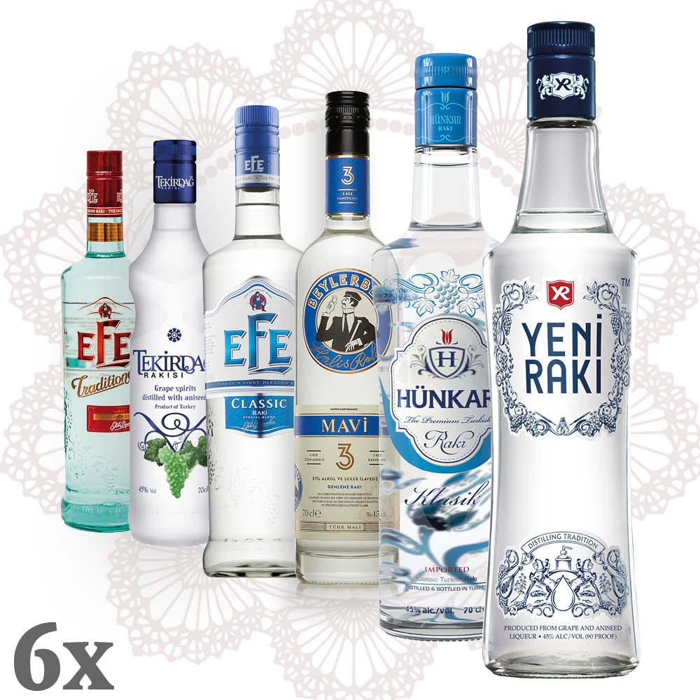 Rakı Mavi Mega Sparpaket ~ Efe, Hünkar, Yeni, Beylerbeyi, Tekirdağ ~ 6x 0,7l