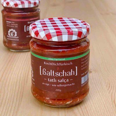 KochDichTürkisch [ßaltschah] Ev tipi salça ~ Paprikamark wie selbstgemacht, mild oder scharf / 200 g