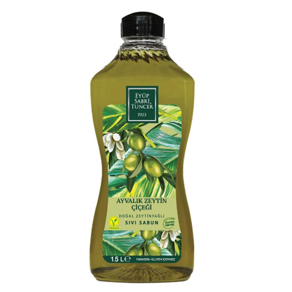EYÜP SABRI TUNCER ~ Natürliche Olivenöl-Flüssigseife 1500 ml Nachfüllpack - Doğal Zeytinyağlı Sıvı Sabun