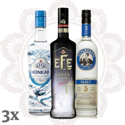 Rakı Zero ~ Rakı zuckerfrei destilliert ~ 3er Sparpaket