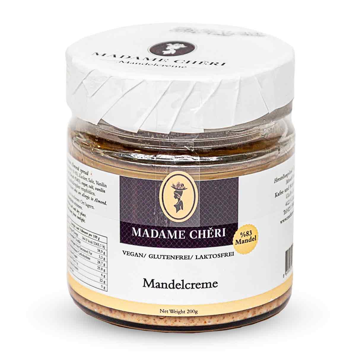 Madame Chêri - Mandelcreme (83%) - vegan
