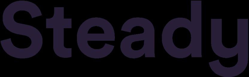 steady wordmark purple