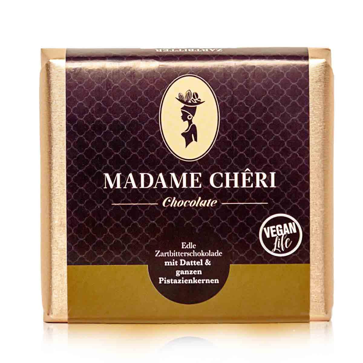 Madame Chêri - Zartbitter Dattel und ganzen Pistazien
