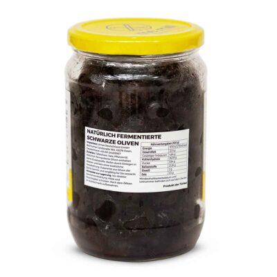 the mill oliven schwarz fermentiert 450g rueckseite