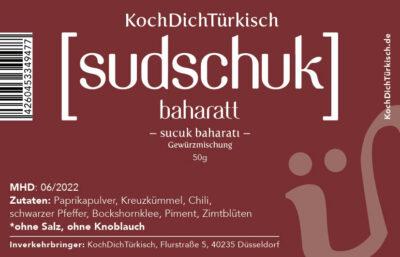 Sudschuk, Sucuk Gewürzmischung, DIY-Sucuk-Gewürz, Sucuk, Spicemix, DIY-Sucuk-Set, Spice, Gewürzmix, 'Do it yourself'-Kit, DIY-Kit, Sucukmix, türkische Knoblauchwurst, zum Selbermachen, selber herstellen, perfekt, ausgewogen, würzig, lecker, zum Hackfleisch, Sucuk Köfte, Ei-Pfanne, Gemüsepfanne, Sucuk-Ei, Eier mit Sucuk, türkische Gewürzmischung, Turkish Allrounder, Turkish Spicemix, Wurst, türkische Wurst, wursten,