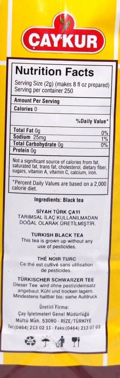 Caykur Rize Turist Trkischer Tee 500g B003D0YN9I 2